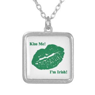 ¡Béseme ¡Soy irlandés Collares Personalizados