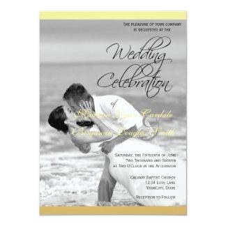 Beso blanco y negro del boda de playa/Invitat el Invitación 11,4 X 15,8 Cm
