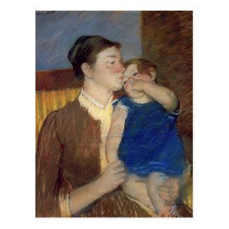 Beso de la madre s de Maria Cassatt- buenas noches Postal
