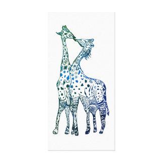 Beso de las jirafas que dibuja la sola impresión