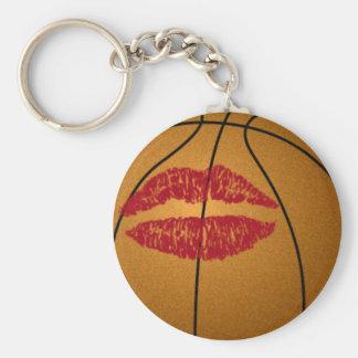 beso del baloncesto llavero