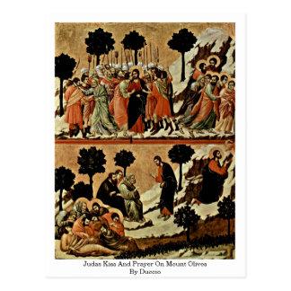 Beso y rezo de Judas en aceitunas del soporte por Postal