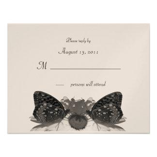 Besos de la mariposa invitaciones personalizada