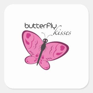 Besos de la mariposa pegatinas