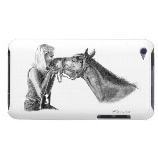 Besos del caballo carcasa para iPod