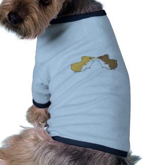 Besos del hámster camisas de perritos