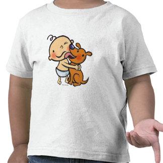 Besos del perrito para el bebé camiseta