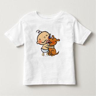 Besos del perrito para el bebé camisetas