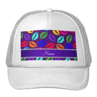Besos púrpuras conocidos personalizados del lápiz gorra