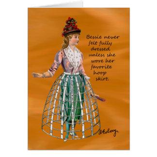 Bessie y su tarjeta de la falda del aro