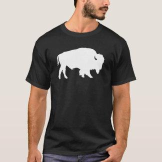 Bestia blanca de la sombra de la silueta del camiseta