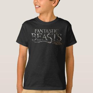Bestias fantásticas y donde encontrarlos logotipo camiseta