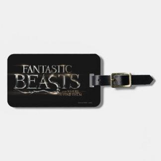Bestias fantásticas y donde encontrarlos logotipo etiqueta para maletas