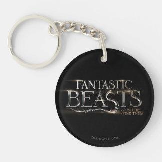 Bestias fantásticas y donde encontrarlos logotipo llavero