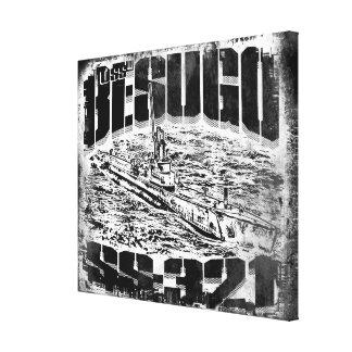 Besugo submarino estiró la impresión de la lona