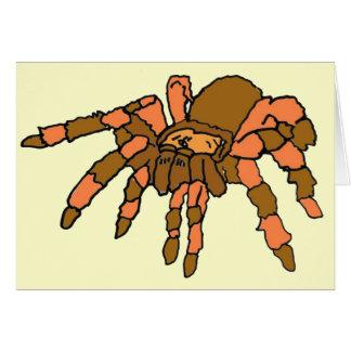 BG tarjetas del saludo y de nota de la araña
