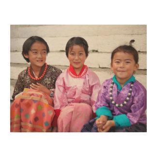 Bhután Impresión En Madera