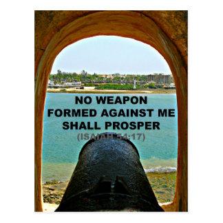 Biblia de Isaías ninguna arma formada contra mí Postal