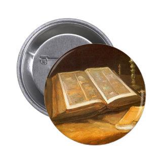 Biblia de Vincent van Gogh, impresionismo del Chapa Redonda De 5 Cm