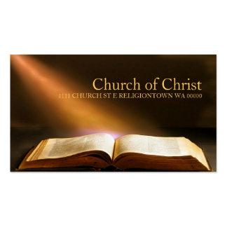 Biblia religiosa de la religión del cristianismo tarjetas de visita