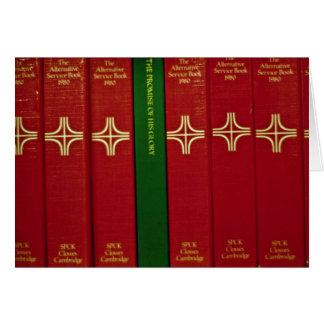 Biblias y libro de oración tarjeta de felicitación