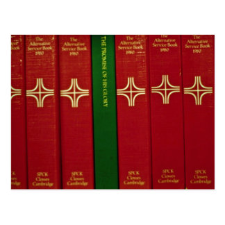 Biblias y libro de oración postal