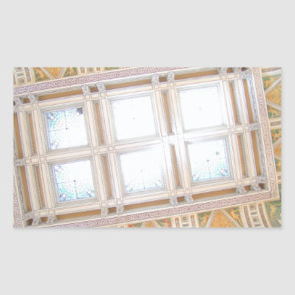 Biblioteca del Congreso del techo Pegatina Rectangular