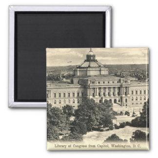 Biblioteca del Congreso, Washington DC, vintage 19 Imanes