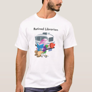 Bibliotecario jubilado camiseta