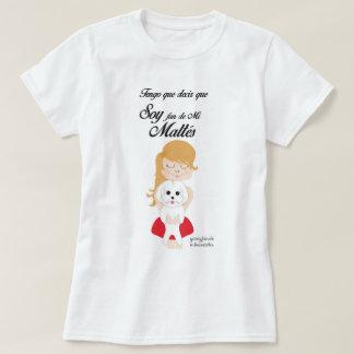 Bichón Maltes, Camiseta básica para mujer, Blanco
