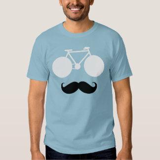 bici blanca con el bigote camiseta