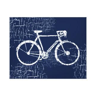 bici blanca impresión en lienzo