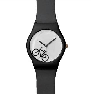 Bici blanca y negra relojes