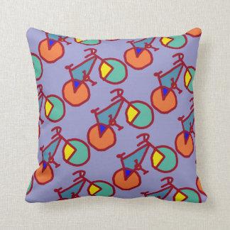 bici colorida de los cuartos de la decoración almohadas