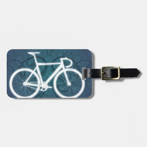 Bici de la pista estilo azul del tatuaje etiquetas para - La bici azul ...