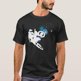 Bici de la suciedad del espacio camiseta