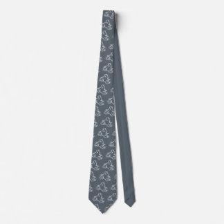 BICI de la SUCIEDAD (garabato blanco) Corbata