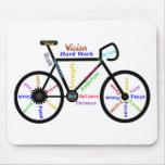 Bici de motivación, ciclo, Biking, palabras del de Tapetes De Ratón