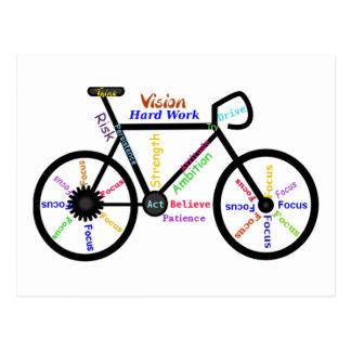 Bici de motivación, ciclo, Biking, palabras del Postal