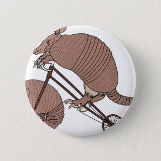Bici del montar a caballo del armadillo con la chapa redonda de 5 cm