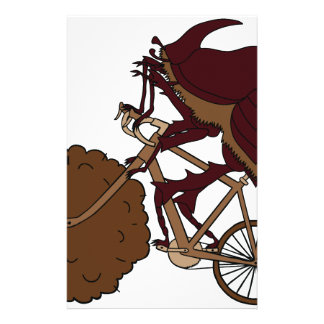 Bici del montar a caballo del escarabajo de  papeleria