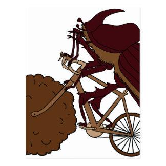 Bici del montar a caballo del escarabajo de postal