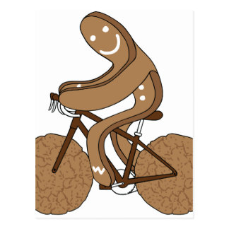 Bici del montar a caballo del hombre de pan de postal