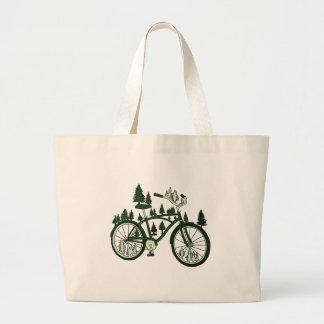 Bici del pino bolso de tela gigante