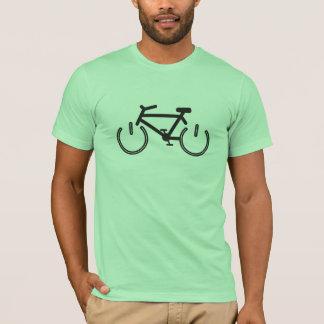 Bici del poder negro con los bordes blancos camiseta