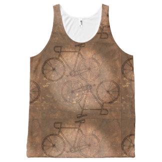 Bici del vintage apenada camiseta de tirantes con estampado integral