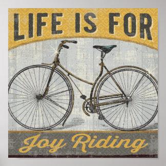 Bici del vintage con cita póster