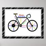 Bici, deporte de la bicicleta, palabras de motivac poster