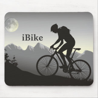 bici Mousepad de Mountin de la silueta del iBike Alfombrilla De Ratón