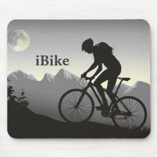 bici Mousepad de Mountin de la silueta del iBike Tapetes De Raton